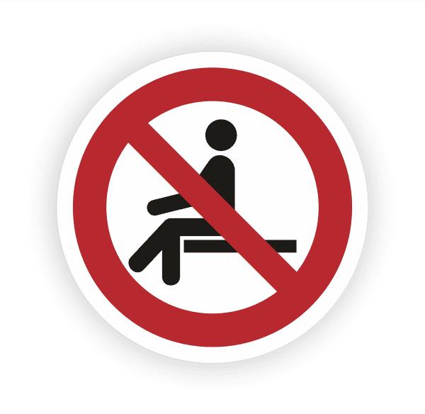 Sitzen verboten Aufkleber