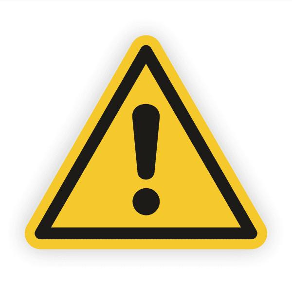 Allgemeines Warnzeichen Aufkleber