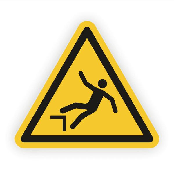 Warnung vor Absturzgefahr Aufkleber