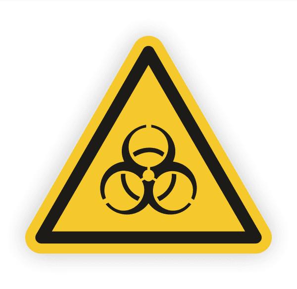 Warnung vor Biogefährdung Aufkleber