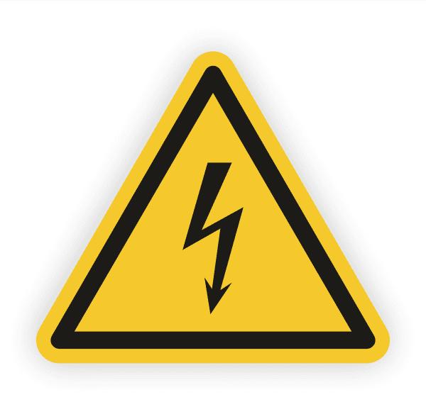 Warnung vor elektrischer Spannung Aufkleber