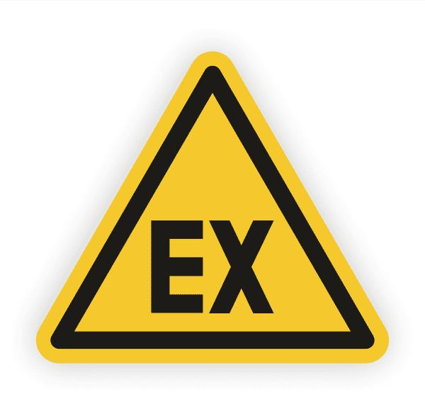 Warnung vor explosionsfähiger Atmosphäre Aufkleber