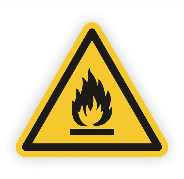 Warnung vor feuergefährlichen Stoffen Aufkleber
