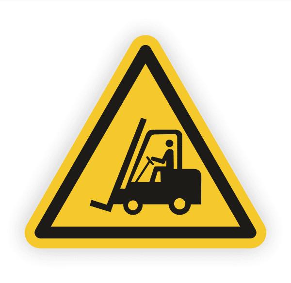 Warnung vor Flurförderzeugen Aufkleber