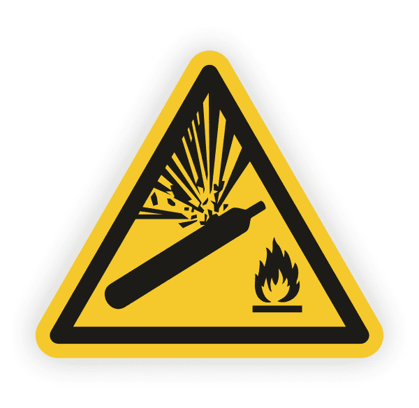 Warnung vor Gasflaschen Aufkleber