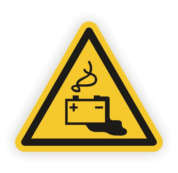 Warnung vor Gefahren durch das Aufladen Aufkleber