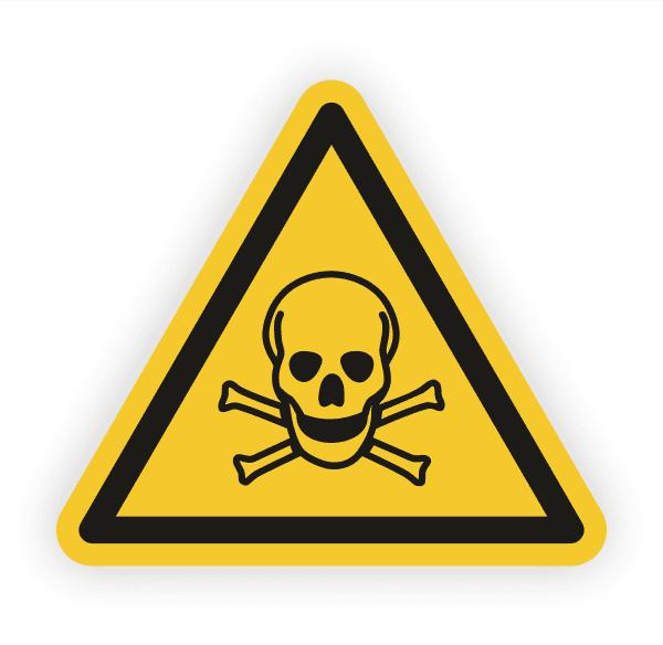 Warnung vor giftigen Stoffen Aufkleber