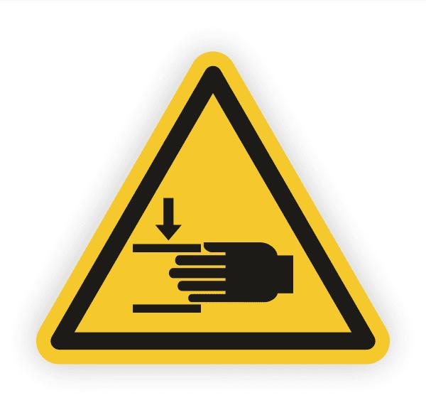 Warnung vor Handverletzungen Aufkleber