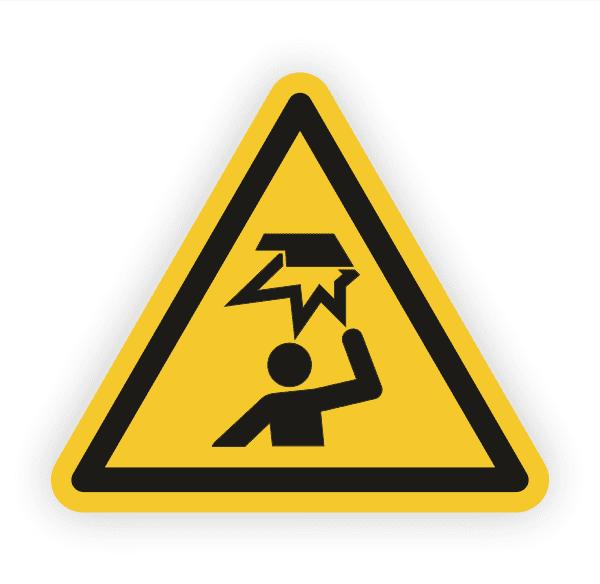 Warnung vor Hindernissen im Kopfbereich Aufkleber