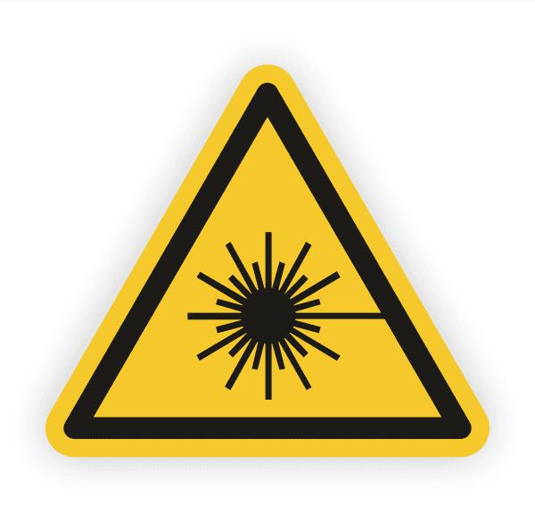 Warnung vor Laserstrahl Aufkleber