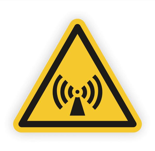 Warnung vor nicht ionisierender Strahlung Aufkleber