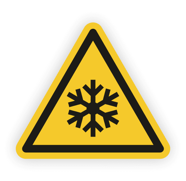 Warnung vor niedriger Temperatur Kälte Aufkleber