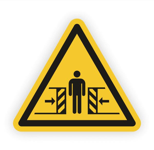 Warnung vor Quetschgefahr Aufkleber