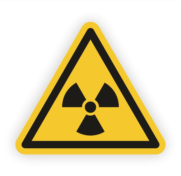 Warnung vor radioaktiven Stoffen Aufkleber