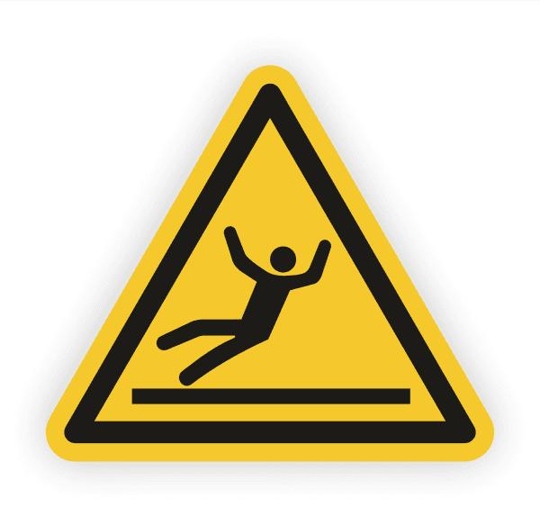 Warnung vor Rutschgefahr Aufkleber