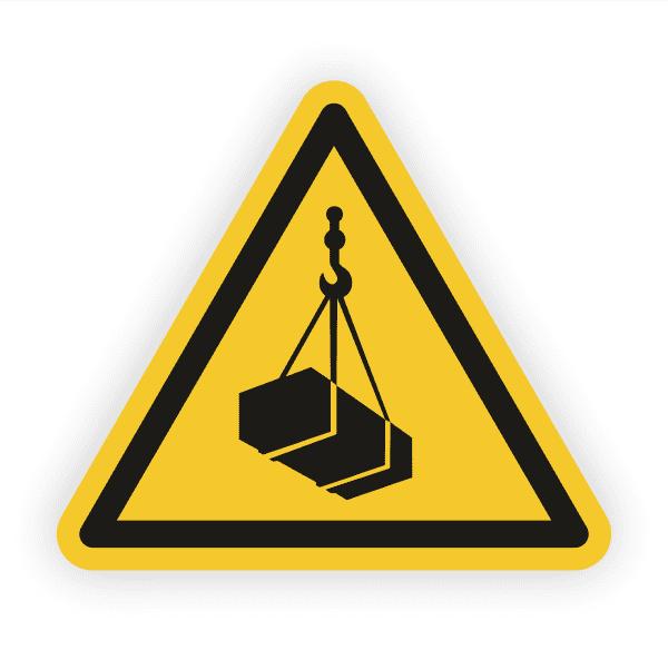 Warnung vor schwebender Last Aufkleber