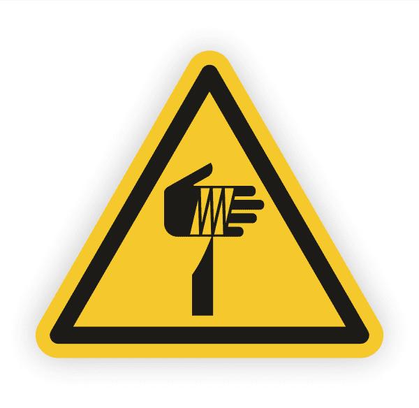 Warnung vor spitzem Gegenstand Aufkleber