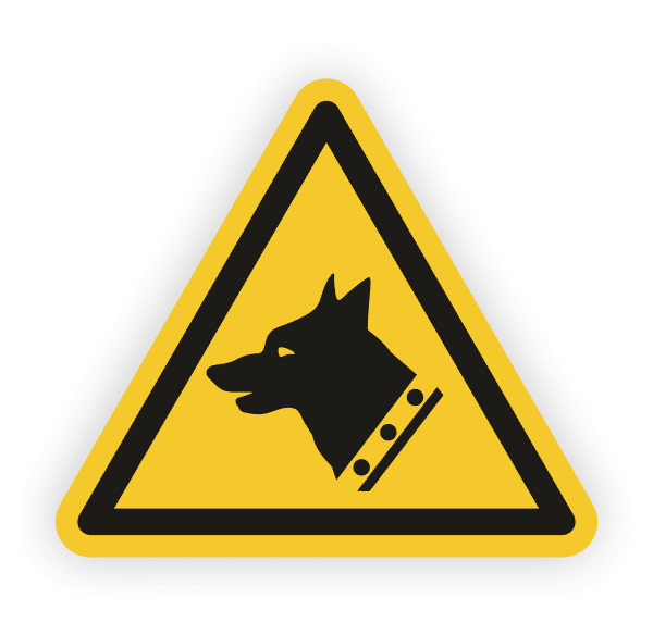 Warnung vor Wachhunden Aufkleber
